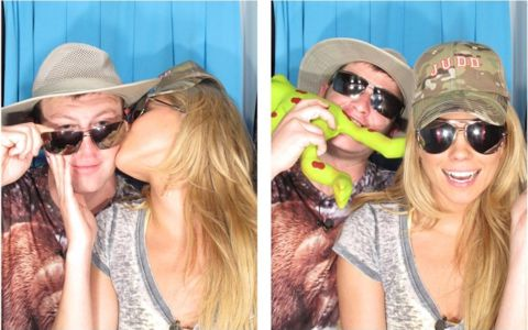 Big Brother 15 - Aaryn and Judd photo booth