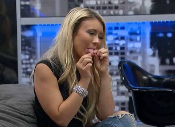 GinaMarie checks her tongue