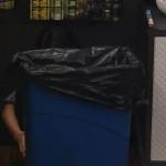 Amanda hides behind the trashcan 03