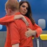 Amanda hugs Andy