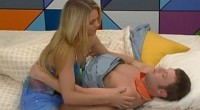 Judd and Aaryn kiss