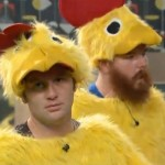 Judd is thrilled to be a chicken
