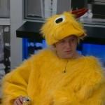 Judd enjoying his chicken suit