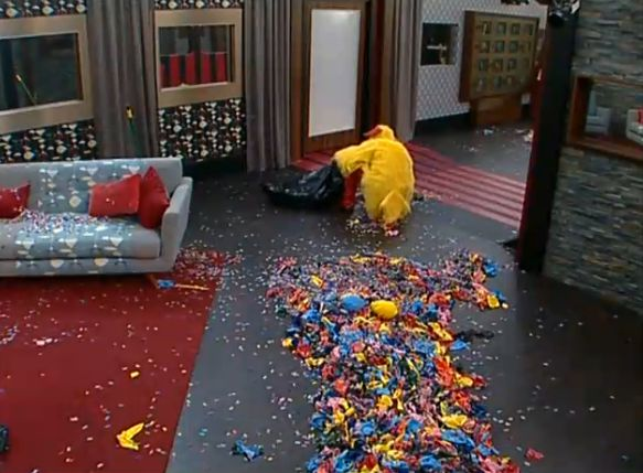 Judd cleaning up the mess