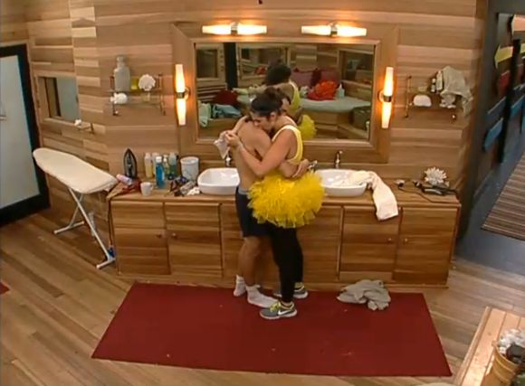 Amanda and McCrae hug