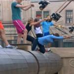 Big Brother 15 HoH comp Elissa falling