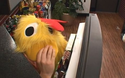 Judd in his chicken suit