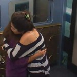 Amanda and Elissa hug