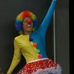 Candice as a clown 01