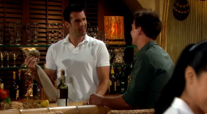 Brendon bartends on Bold & Beautiful