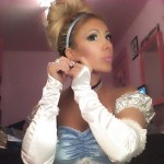 GinaMarie dresses up as Cinderella