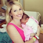 Britney with Tilly at 2 days