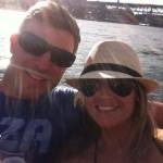 Jeff and Jordan boating in Australia