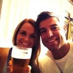 Jeff & Jordan toasting in Australia