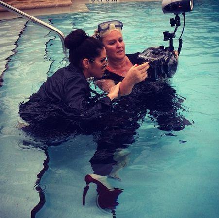 Amanda in the water