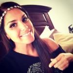 Amanda wearing the star crown