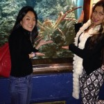 Helen & Elissa at the aquarium