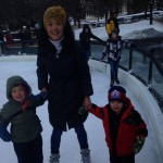 Helen skating with her boys