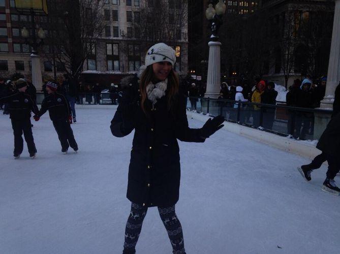 Elissa shows off her skating skills