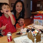 Helen makes cookies with her boys