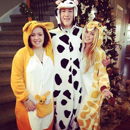 Aaryn Gries celebrates Christmas as a giraffe