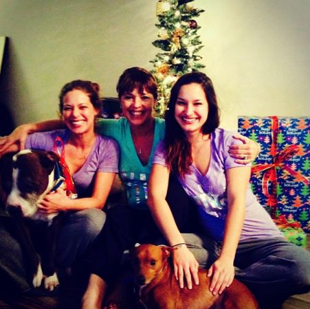 Jessie with her family for Christmas
