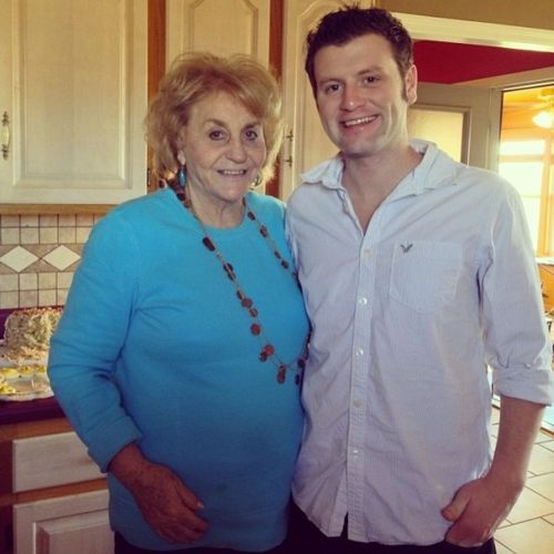 Judd and his grandmother on Thanksgiving