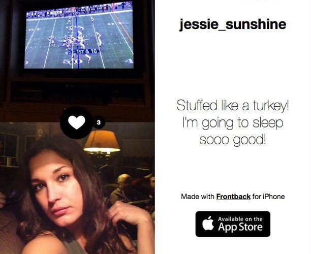 Jessie got stuffed on Thanksgiving