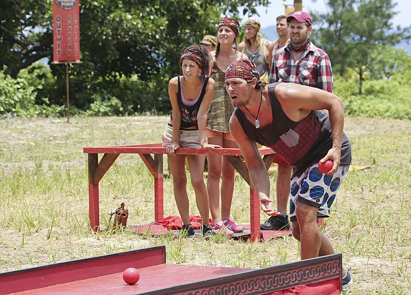 Hayden Moss competes on Survivor 2013