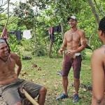 Hayden Moss jokes with his tribe