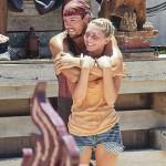 Hayden hugs Kat at Redemption Island