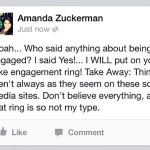 Amanda says she was faking out fans