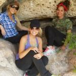 Aaryn, GM, & Jessie hiding in the shade