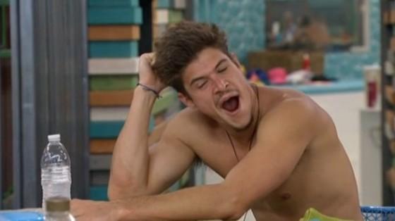Zach yawns on Big Brother 16