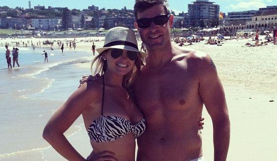 Jeff and Jordan on an Australian beach
