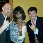 Danielle Reyes with Adam Poch & Ian Terry
