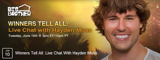 Hayden Moss chat on Live Feeds