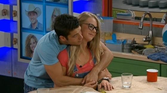 Cody and Nicole hug on Big Brother 16