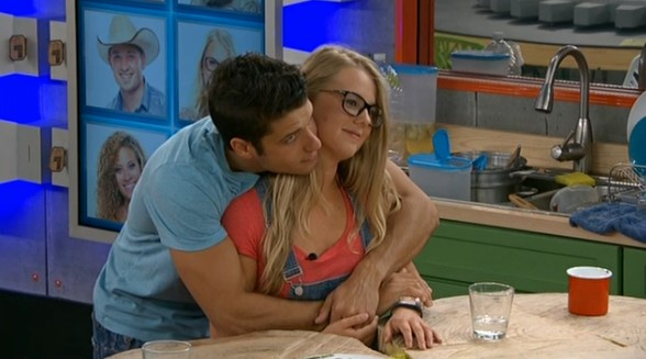 Cody and Nicole hug on Big Brother 16