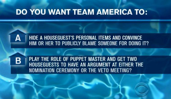 Big Brother 16 Team America's Latest Mission