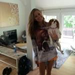 Amber shows off the Team Judd Bear Shirt
