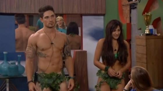 Caleb & Victoria wearing a new costume