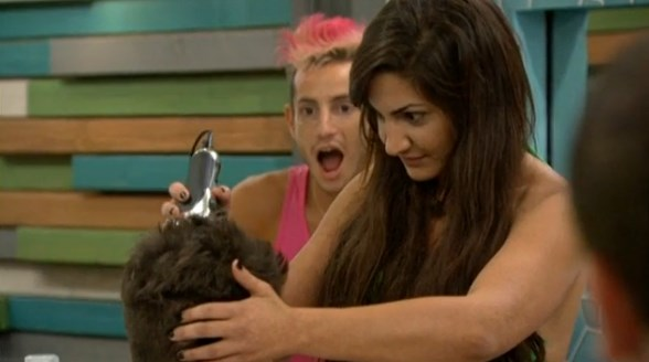 Victoria shaves Caleb's head on Big Brother
