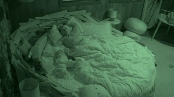 Frankie Grande sleeps in Christine Brecht's HoH room