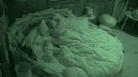 Frankie Grande sleeps in Christine Brecht's HoH room