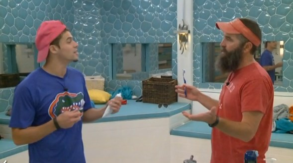 Zach and Donny prepare for the Veto