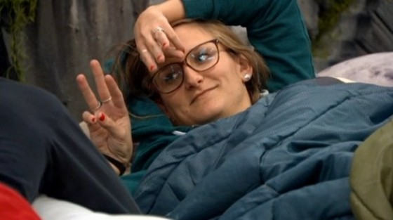 Christine counting the votes on Big Brother 16