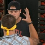 Caleb Reynolds retells the story to Derrick Levasseur on Big Brother