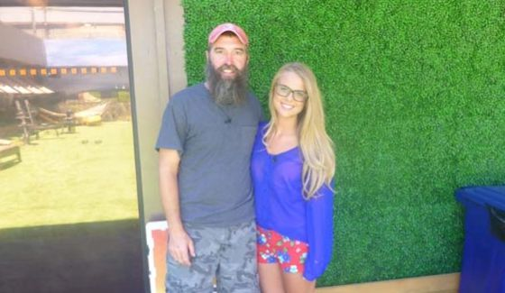 Donny Thompson and Nicole Franzel on Big Brother 16 - Source: CBS