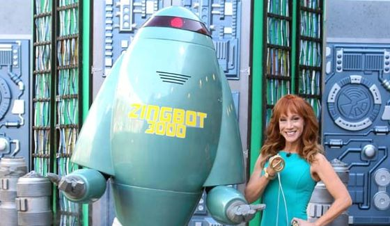 Zingbot and Kathy Griffin on tonight's Big Brother 16